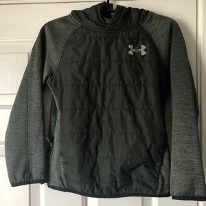 Girls Under Armour Hunter Green Quilted Pullover